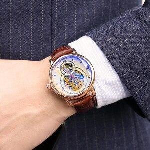 Image 3 - Relojes Hombre 2019 Thiết Kế Mới ORKINA Đồng Hồ Cơ Dây Da Tự Động/Dây Lưới Thép Không Gỉ Đồng Hồ Relogio Masculino