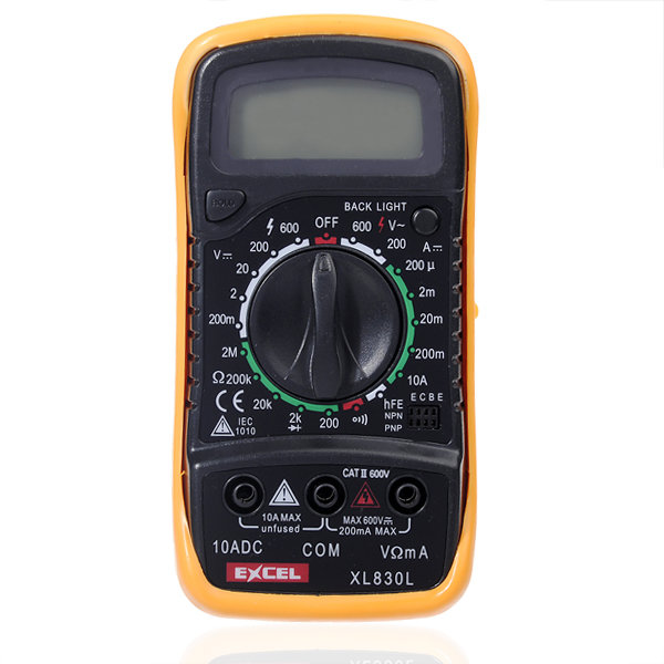 EXCEL XL830L LCD Digital del voltímetro del amperímetro óhmmetro OHM multímetro Tester