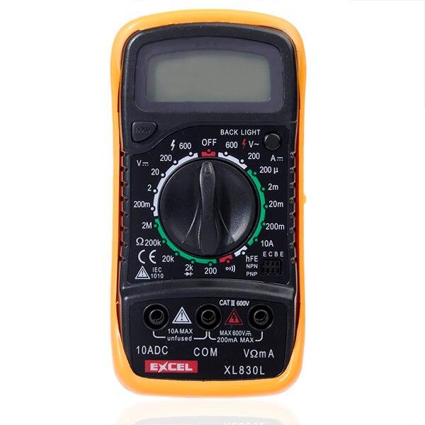EXCEL XL830L LCD Digital Voltmeter Amperemeter Ohmmeter OHM Multimeter Tester