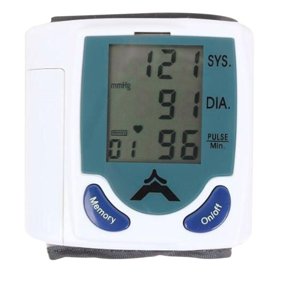 Высокое качество цифровые наручные Приборы для измерения артериального давления Мониторы Heart Beat частоты пульса метр мера с случае