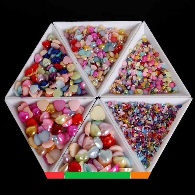 10Pcs Triangle Plastic Nail Art Gem Diamond Glitter Crystal Sorting Trays Rhinestones Beads Decor Picker Storage Accessory