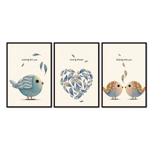 3 Panel Bird series Wall Art Picture For Living Room Home Decor Wall Gift (No outer frame only inner frame)12Y-3C-9-191(China)