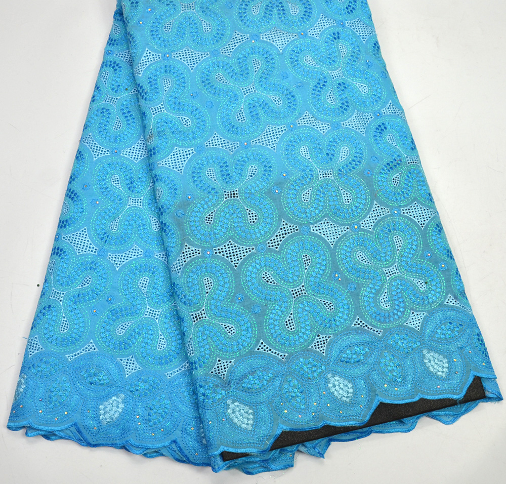 Latest High Quality Nigeria Design Turquoise blue African Swiss Voile lace Fabric For Men For Nigeria WeddingLatest High Quality Nigeria Design Turquoise blue African Swiss Voile lace Fabric For Men For Nigeria Wedding