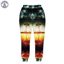 Mr.1991inc raum/galaxy 3d hose männer/frauen 3d harajuku stil lustig druck nightfall bäume jogger 3 taschen lange pluderhose hose