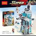 563 unids ataque torre avenger iron man thor marvel super hero juego compatible con legoe ladrillos de juguete bloques de construcción