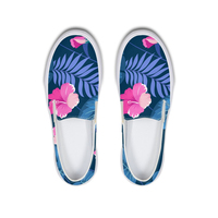 Flower Leaf Printed Women Flats Causual Canvas Ladies Shoes School Girls Autumn Sneakers Feminino Platform Woman Loafers Zapatos