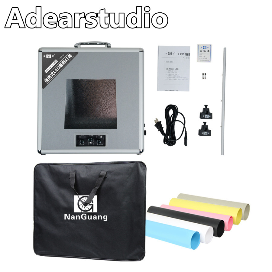 NanGuang NG T4730 Portable photo lighting case Photo Studio Lighting LED foldio box 47cm 47cm 10cm
