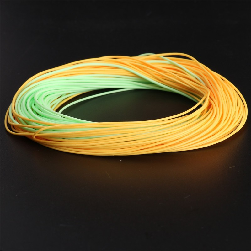 Double color weight forward floating fly fishing line with for Floating fishing line