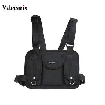 Vebanmix 2018 di modo petto rig sacchetto della vita hip hop streetwear funzionale tactical petto sacchetto di croce sacchetti di spalla bolso Kanye West