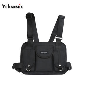 Vebanmix waist bag hip hop tactical chest bag shoulder bags