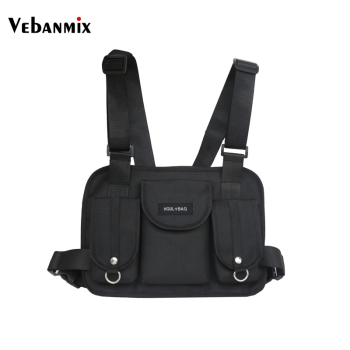 Vebanmix 2018 New Fashion Chest Rig Hip Hop Streetwear Functional Tactical Chest Bag Cross Shoulder Bag Kanye West Hot Sale buddhist rope bracelet