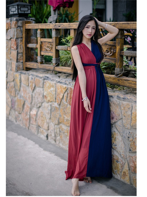 High Quality Explosions Leisure Vintage Dresses Women erogenous Spring summer Casual Beach  Dress 1