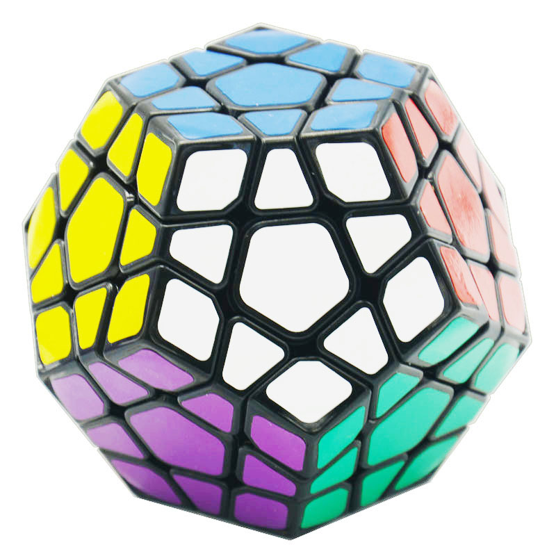 Shengshou Aurora Megaminx Cube PVC Sticker 3x3x3 Magic Cube Professional Puzzle Speed Cubes Special Toys