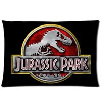 LUQI Zippered Pillow Protector Pillowcase Queen Size 20x30 Inches Jurassic Park Pillow Cover