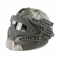 Tactical Helmet PJ ABS Mask with Goggles for Military Airsoft Army Paintball WarGame Motorcycle Cycling Hunting Accessories