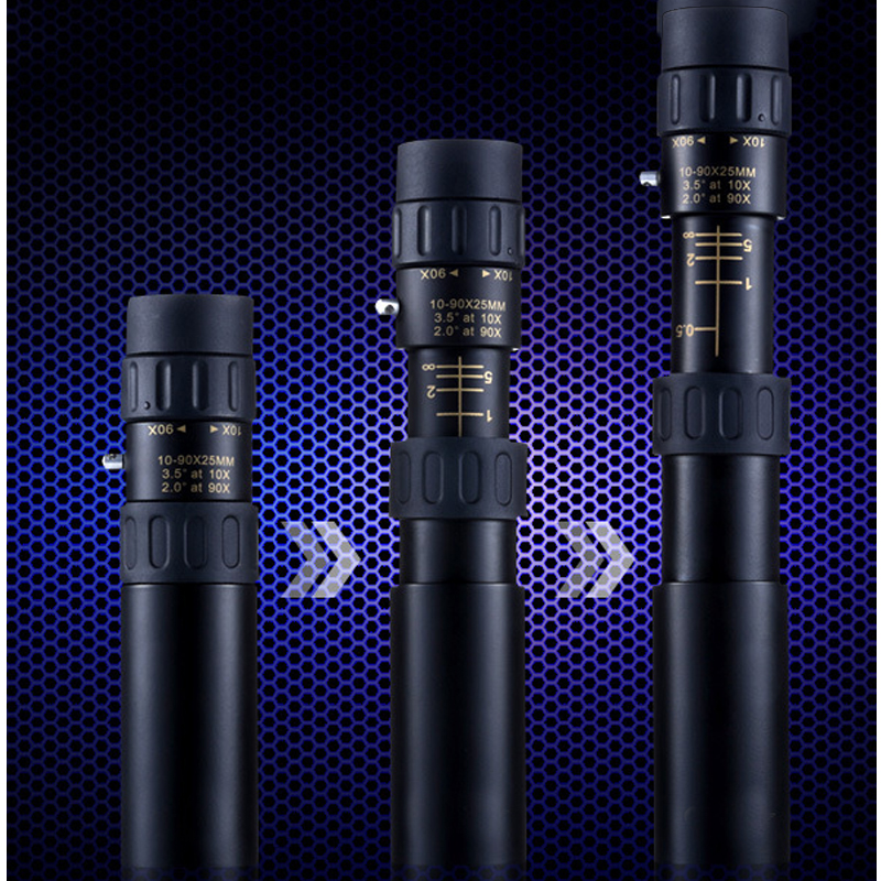 2014 New All Metal Telescopic 10-90x25 Mini HD Times Pocket Mi Ni Monocular Telescope High hd Night Free Send A Tripod Top Brand