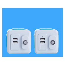 Smart Home Power Cube Socket EU / US UK Plug 4 2 USB Port Adapter Outer Extension Universal Jack