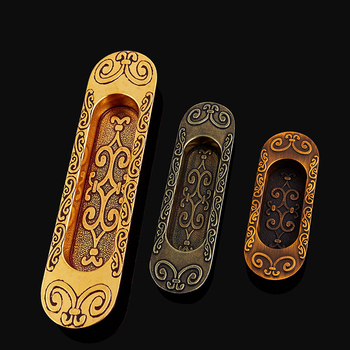 HOT 10PCS Recessed Cabinet Handles Hidden Sliding Door Handles Cupboard Wardrobe Drawer Cabinet Pulls Handles Furniture Hardware