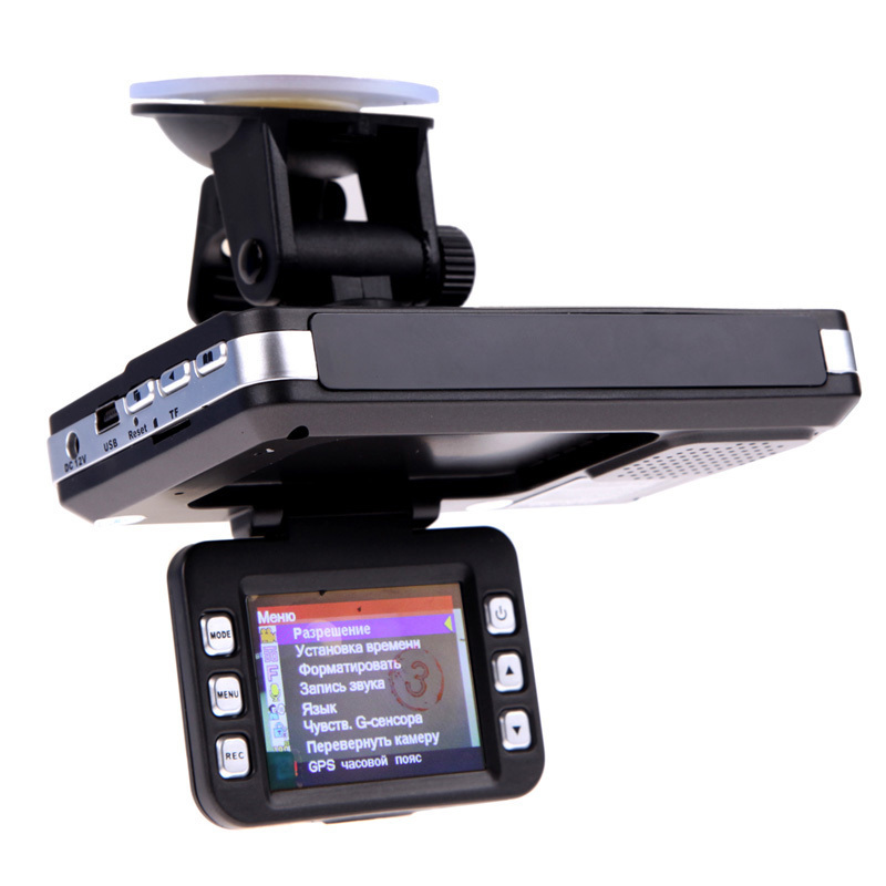 HOT 2 in1 Car DVR Anti laser Radar detector 2