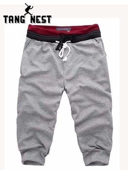 TANGNEST 2019 מכירה לוהטת קיץ גברים מקרית מכנסיים קצרים Loose נוח זכר מכנסיים הרמון מכנסיים 4 צבע אסיה גודל M-XXL B439
