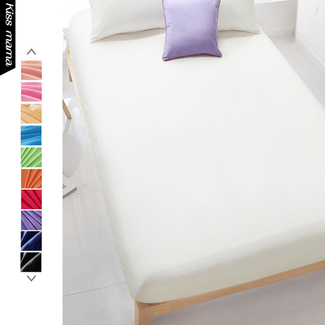 Kiss Mama Custom Cotton Solid Bed Sheet Fitted Sheet Bedding Linens Sheets ,High Density