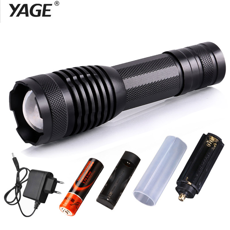 YAGE 339C Rechargeable 18650 flashlight cree xml-t6 Led Flashlight Torch Lanterna Torche Lampe Lantern lampe de poche Zoomable high quality outdoor flashlight cree t6 led searchlight torch for camping shock resistant lampe torche
