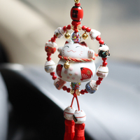 Maneki Neko Lucky Cat Fat Cat Keychain Sleutelhanger Porte Clef Bag Car Key Ring Pandent Ornament Key chain Chaveiro Gift m217