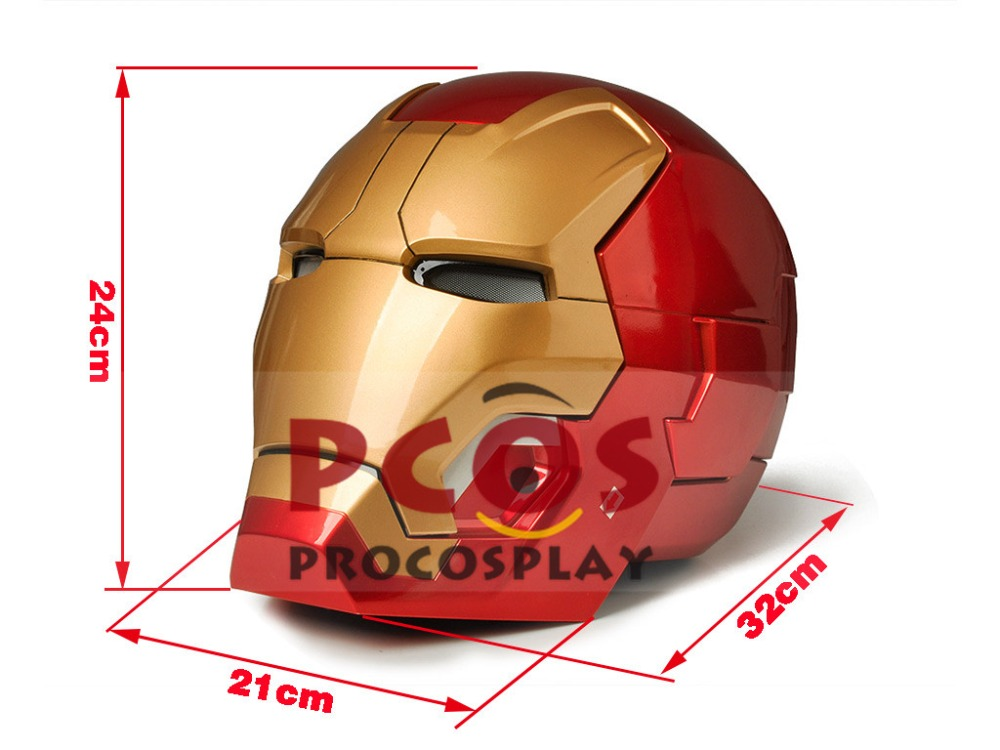 New Iron Man 3 Tony Stark MK42 Cosplay Helmet telecontrol ver mp003728(look the gif view in description) iron man 3 tony stark mk4 mk42 mk6 light