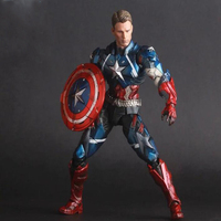 Captain America model action figure Avengers Super hero Movable collection toys figures with box gifts 25cm Y7671
