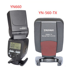 YONGNUO YN660 2.4G Master Slave Flash Speedlite + YONGNUO YN560-TX Wireless Flash Controller For Canon Nikon DSLR Cameras