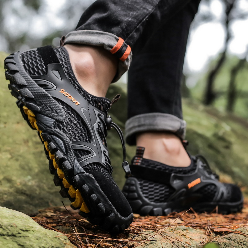 Rommedal mens hiking shoes outdoor climbing travelling wading hollow out shoes summer quickly dry anti slip male footwear 2019 in Men 39 s Casual Shoes from Shoes