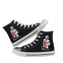 цена на Hot Cartoon Eren Attack on Titan Ins Classic High Top Canvas Shoes Student Women's Spring and Autumn New A193131