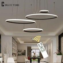 купить 4Rings Modern LED Pendant Light For Foyer Living Room Dining room Bedroom Luminaires Led Pendant Lamps 40 60 80 100cm Lustres по цене 1102.67 рублей