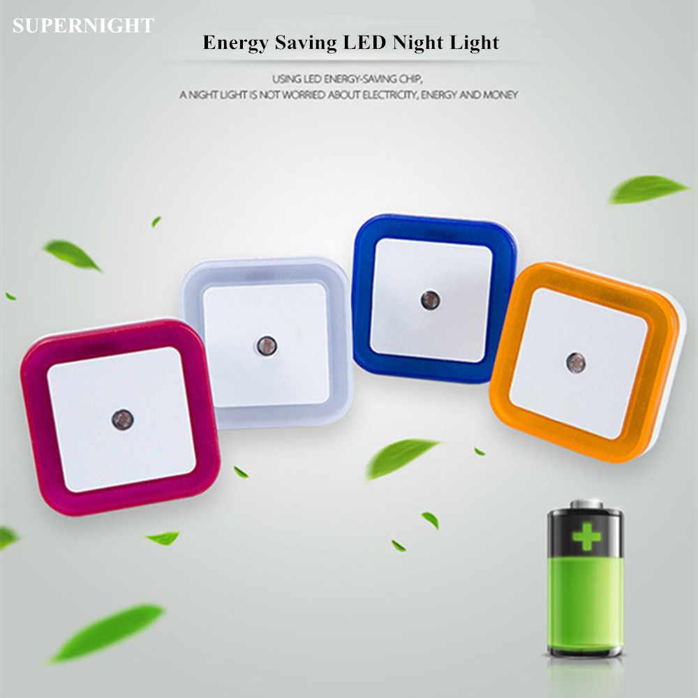 Mini Light Sensor Controle LED Nachtlampje Smart Vierkante Energiebesparende Night Lamp Trap Slaapkamer Bedlampje voor Kinderen Ouderen