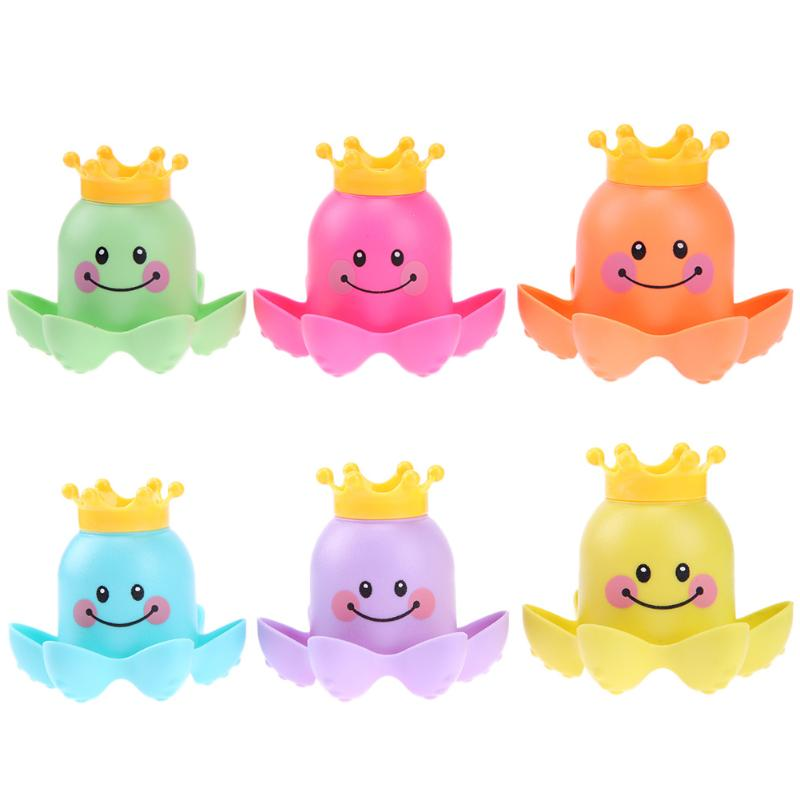 Baby Bath Toy Octopus Swimming Water Soft Sound Rubber Floating Cups For Kids Swimming Pool Bathtub Water Toys