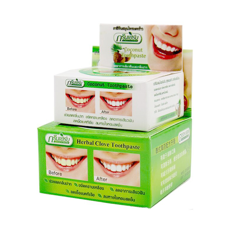 10pcs/100g Herb Natural Herbal Clove Thailand Toothpaste Tooth Whitening Toothpaste Dentifrice Antibacterial Tooth Paste