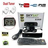 [Chính hãng] SKYSAT S2020 H.265 Twin Tuner DVB-S2 Thu Vệ Tinh ổn định nhất Năm máy chủ IKS SKS ACM Thụ Hỗ Trợ IPTV M3U