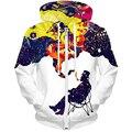 LASPERAL 3D Thickened Hoodies Men Zipper Open Cotton Lion Tiger 3D Printed Causal Long Sleeve Winter 3D Sweatshirt 1pc