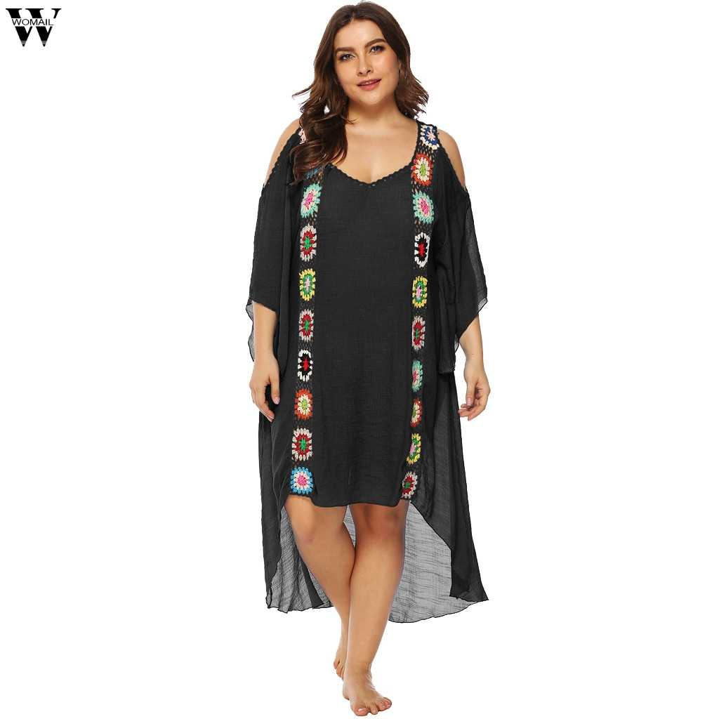 490f5def3e88f ... New Lace Beach Cover up Sarong Beach Wrap Pareos Para Playa 2019  Swimwear Cover up Women ...