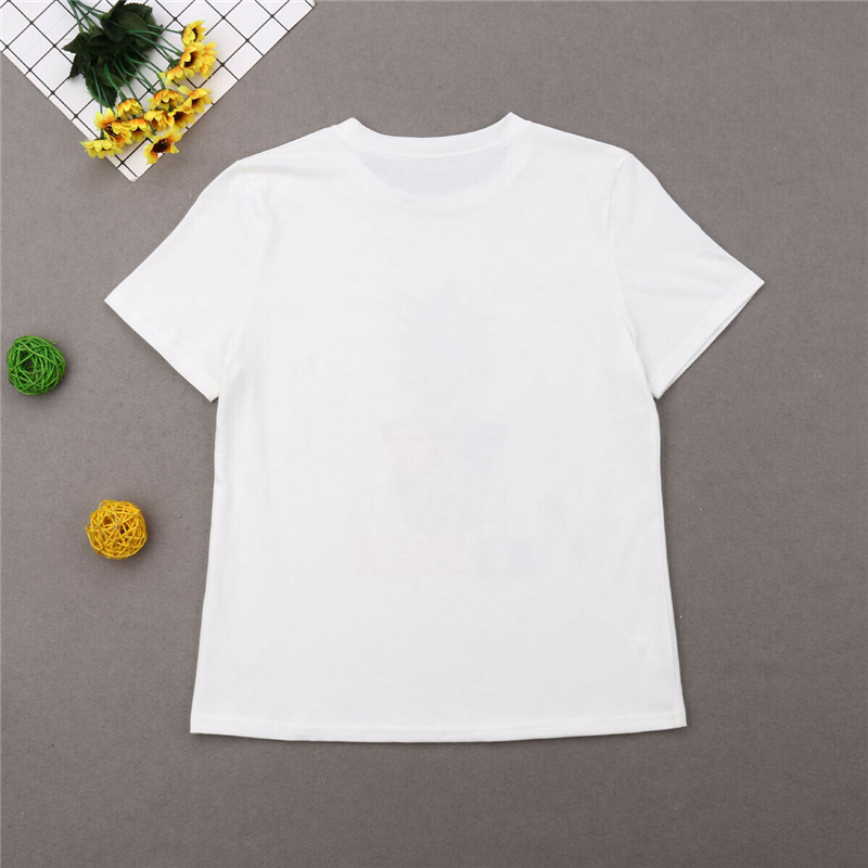 Family T-shirt Parent+Child Printed O Neck Short Sleeve Tee Top Mom Dad Kids New
