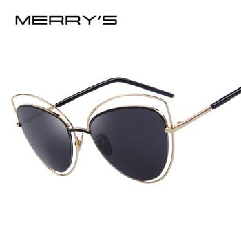 Delle Donne di modo Occhio di Gatto Occhiali Da Sole Grande Cornice Delle Donne del Progettista di Marca Classic Occhiali Da Sole Shades UV400