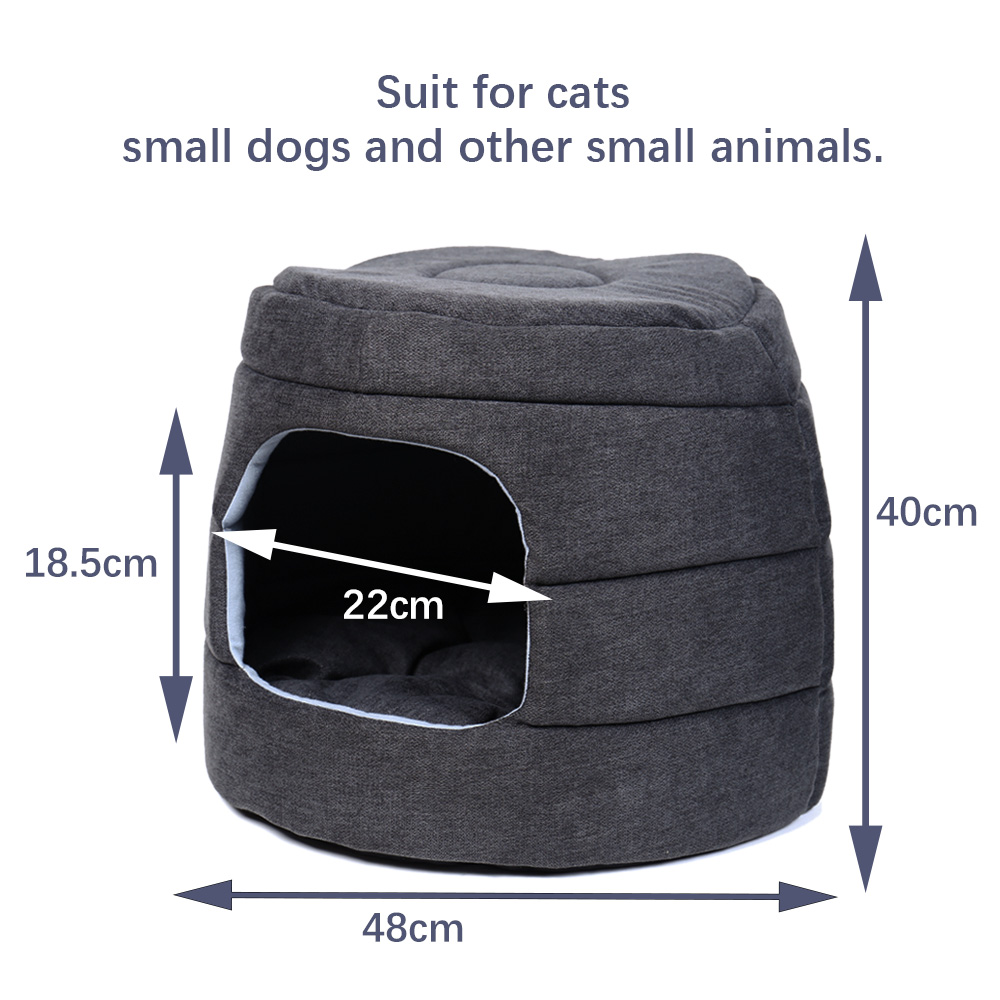 2 In 1 Pet Dog Beds Warm Pet House Luxury Dog Kennel Removable Sofa Cozy Puppy Cushion Cat House Collapsible Durable Dog Cat Mat
