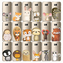 zebra penguin Bear fox Koalas lion bird panda tiger rabbit Hedgehog animal Phone Case for samsung Note10 pro 9 s10E S9 s10plus