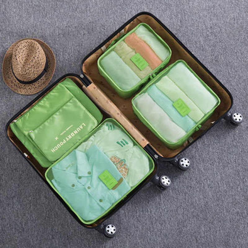 HOT 6PCs/Set Travel Storage Bag High Capacity Clothes Tidy Pouch Luggage Organizer Portable Container Waterproof Storage Case