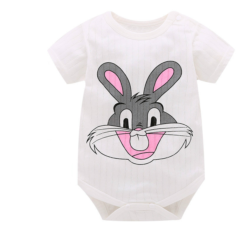 Brand Baby Clothes Pajamas Newborn Baby Rompers Cartoon Infant Short Sleeve Jumpsuits Boy Girl Autumn Spring Unisex Baby Clothes baby girl rompers long sleeve baby boy winter clothes infant jumpsuits warm 0 6 12month newborn baby clothes baby kids outfits