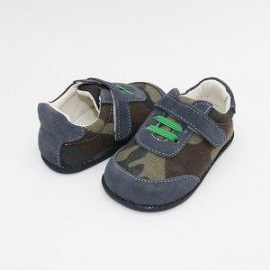 Image 3 - TipsieToes למעלה מותג עור אמיתי באיכות גבוהה תפרים ילדים ילדי נעלי יחף עבור בני 2020 אביב חדש הגעה