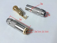 new copper 3.5 mm female Jack Stereo Audio cable connectors DIY