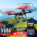 JJRC V686 & V686G FPV RC Drone With WIFI Camera Headless Mode RC Helicopter Quadcopter 5.8GHz and V686 No Camera Dron