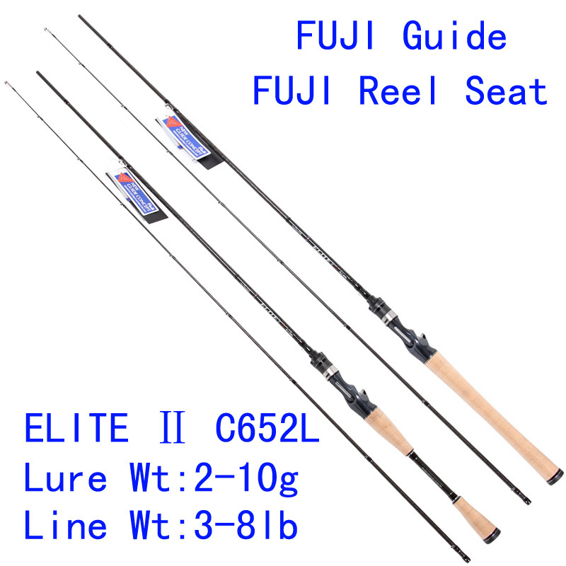 Tsurinoya elite elc 652l 105g carbon lure rod for Fishing pole guides