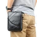 New Men's fashion Genuine Leather Cowhide Fanny Waist Bag Phone Case Shoulder Messenger Bag Waist Pack Hook Belt Bag